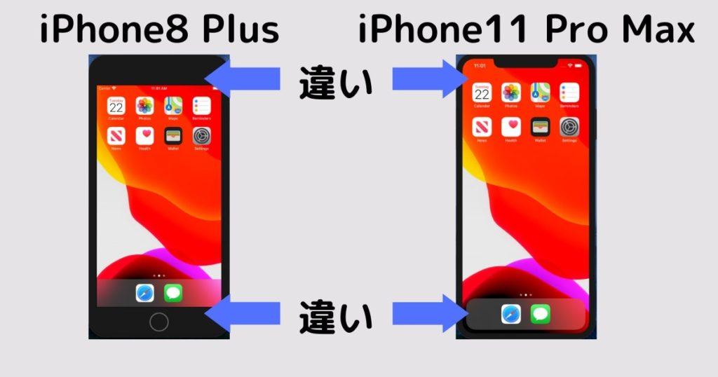 iPhone端末の違い
