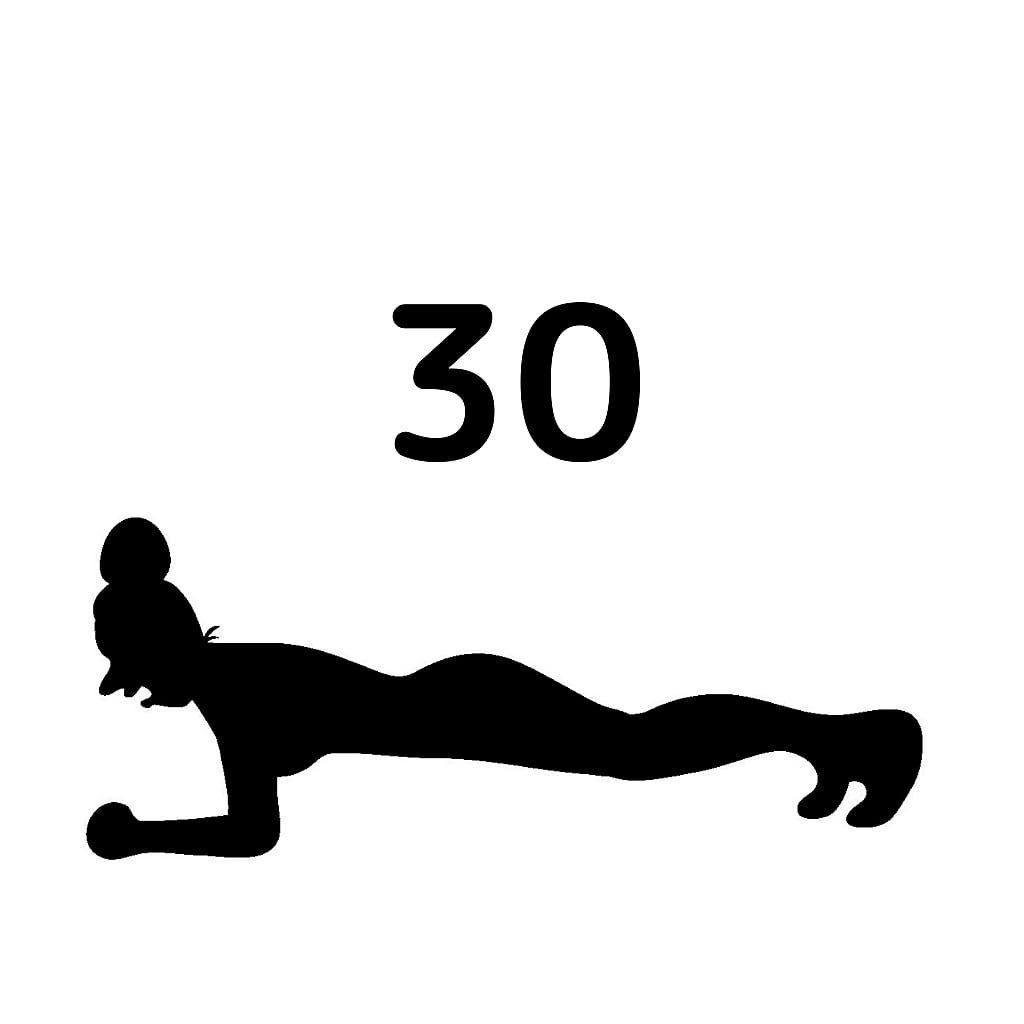 30daysプランクチャレンジのアイコン