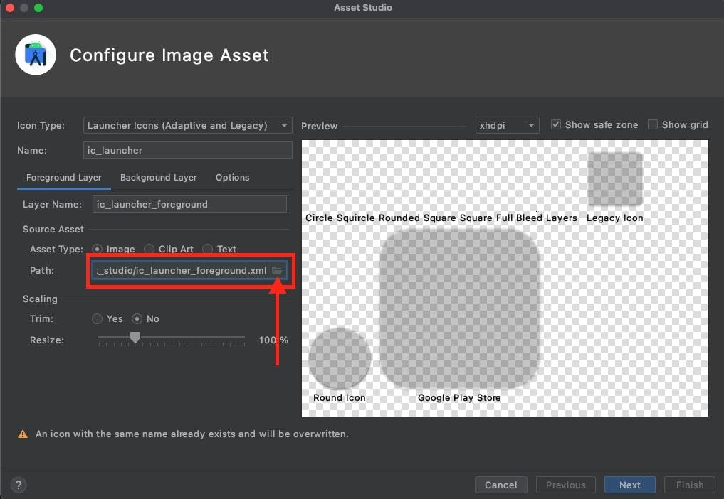 imagePathに作成した1024×1024のアイコン画像を指定